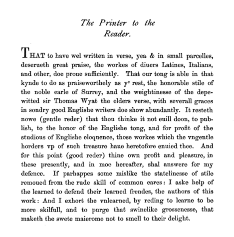Miscellany preface